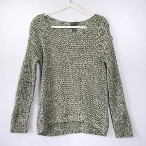 041b17ae8e36 Quinn Green Grey Knit Sweater